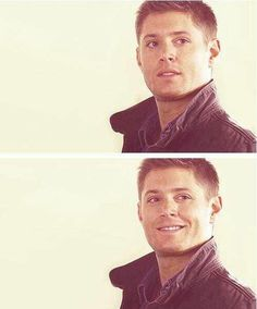 Love that smile - This is everything about Dean Winchester for the last 10 years rolled into one.