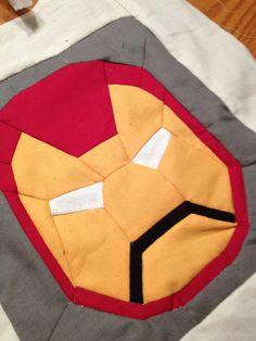 IRONMAN Quilt Block Pattern SUPERHERO QUILT