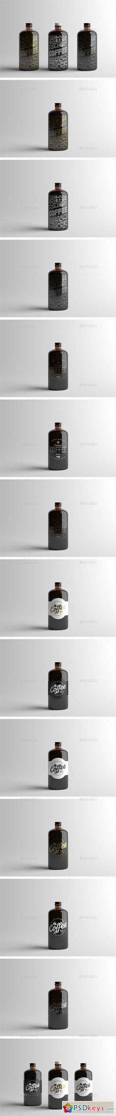 Coffee Bottle Packaging Mock-Up 15512013