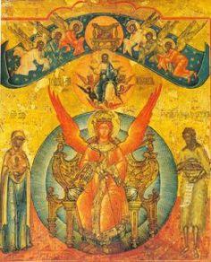 Icon of Sophia, the Wisdom of God - Orthodox Church in America Sacred Feminine, Divine Feminine, Orthodox Icons, Mother Mary, Gods And Goddesses, Religious Art, Our Lady, Deities, Holy Spirit