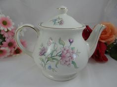 1960s Vintage English  Windsor Fine China Teapot by SecondWindShop, $19.50