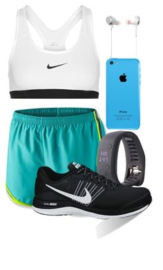"""""""Going for a run"""" by krisstinak ❤ liked on Polyvore featuring moda, NIKE, adidas e Jabra"""