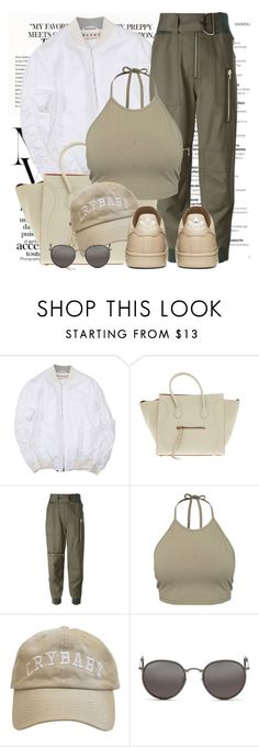 """""""Untitled #1256"""" by noviii ❤ liked on Polyvore featuring CÉLINE, 3.1 Phillip Lim, NLY Trend and Ray-Ban"""