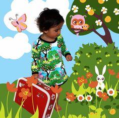 Znok uit Scandinavië is een super leuk merk met vrolijke prints voor kinderen. De stoffen spreken ieder kind aan vanwege de vele kleuren en vrolijke plaatjes. De stof is hier verwerkt als jurkje. Is het niet helemaal geweldig!