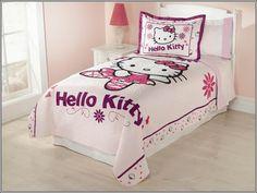 """Décorez la chambre de votre petite fille avec """"Hello Kitty"""" thème ! ~ Décor de Maison / Décoration Chambre"""