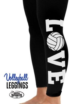Check out these adorable love volleyball leggings!