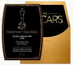 DIY Oscar Party Invitation Template from #DownloadandPrint. http ...