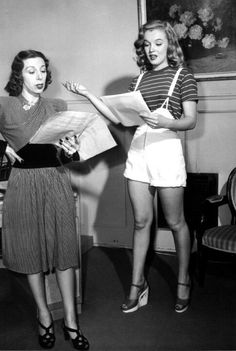 Marilyn with acting coach