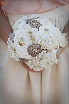 Love Love Love, fabric flower bouquets!