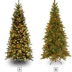 90IN TIFFANY SLIM FIR TREE WITH LIGHTS | Get Organized  #holidaytree #holidaydecor