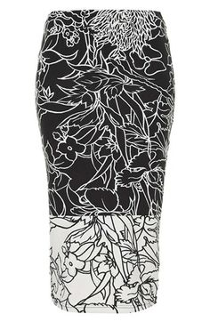 Topshop 'Pen Garden' Floral Print Tube Skirt   Nordstrom