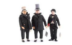 1097: Peggy Nisbet WC Fields & Charlie Chaplin Dolls : Lot 1097