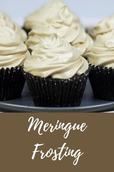 Smooth and glossy and perfectly sweet. My love of Meringue Frosting is beyond!