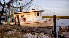Shrimp Boat, Chesapeake Bay, Boat Building, Beach Art, Fishing Boats, Coastal, Yachts, Louisiana, Travel Ideas