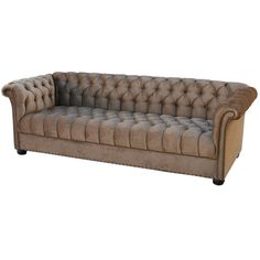 Large 1920's Velvet Chesterfield Sofa | From a unique collection of antique and modern sofas at http://www.1stdibs.com/furniture/seating/sofas/