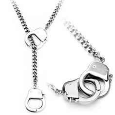 the crazy things they come up with.. handcuffs on a necklace?!