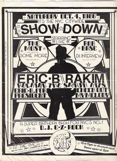 Very cool collection of old hip hop flyers.