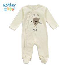 2016 ropa del bebé pequeño oso lindo de los mamelucos del algodón del bebé Bebe Cuerpo Ropa de manga larga infantil de las muchachas de los muchachos del resorte mono del verano