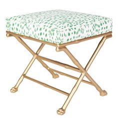 Faux Bamboo Footed X-Stool – Society Social