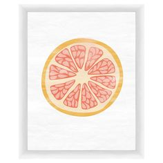 Showcasing a colorful pomelo cross-section, this charming framed giclee print brings a delightful touch to your walls.  Product: