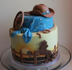 - Graduation cake for a cowgirl