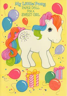 My Little Pony Paper Doll Greeting Card