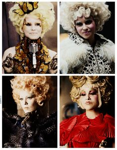 Effie Trinket - The Hunger Games: Catching Fire. Johanna Mason, Hunger Games Catching Fire, Hunger Games Trilogy, Katniss Everdeen, Fashion Tv, Capitol Couture, Effie Trinket, Suzanne Collins, Film Serie