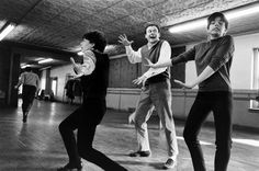 Liza Minnelli and Bob Dishy are put through their paces by Flora the Red Menace choreographer Lee Theodore.