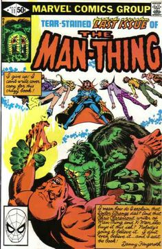 Man-Thing covers