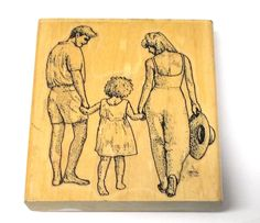 Family Stamp Cabana rubber stamp Scrapbooking girl father mother people stamps