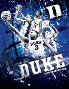 Duke 2013-2014 Men's and Women's Basketball All In Book Covers