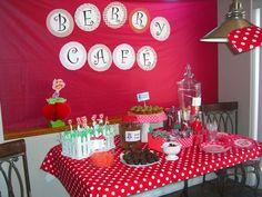 Strawberry Shortcake Birthday Party Ideas | Photo 2 of 14 | Snack ideas like having strawberry lemonade.