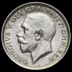 1917 George V Silver Sixpence – Rare – VF+