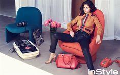 Descargar fondos de pantalla Instyle, Selena Gomez, una chica guapa, de Hollywood, la cantante estadounidense, belleza