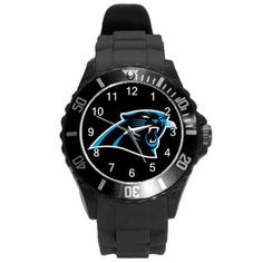 Carolina Panthers Black Sport Watch #NFL Team Wristwatch from $14.99