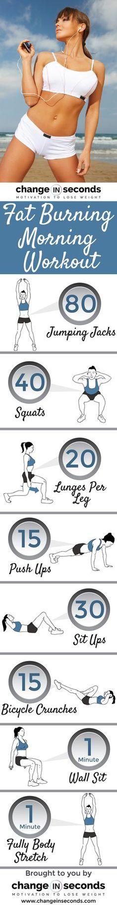 Fat Burning Morning #Workout (Download PDF)