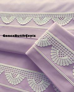 Zehra Türkyazıcı'nın dantelinden nevresim takımı Crochet Edging Patterns, Crochet Lace Edging, Crochet Borders, Crochet Art, Crochet Squares, Filet Crochet, Irish Crochet, Crochet Doilies, Crochet Stitches
