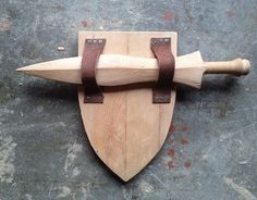 Wooden Toy Sword And Shield