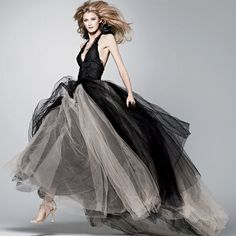 Is Black The New White? This is one of Vera Wangs black wedding dresses from her Fall 2012 line - what do you think?