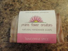 Handcrafted Tangerine Spice soap. Smells wonderful