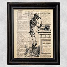 Vintage VesaliusSkeleton Anatomy Medical Art by Improvisatori
