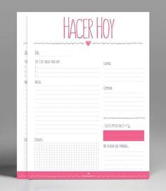 Planificador diario Imprimible gratis para descargar Planificador diario imprimible gratis para descargar e imprimir,diseñado en a color de alta calidad para organizar tu día a la perfección.
