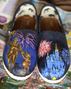 Disney TOMS & Custom Toms You design them I paint by DanOFlorez, $108.00 <-- He does incredible work!