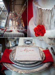 winter tablescape wedding