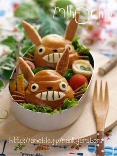 Japan's Miyazaki Amine Totoro Buns Kyaraben Bento Lunch