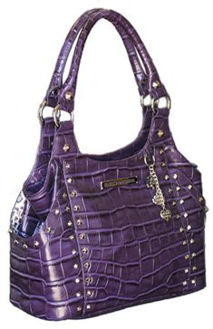 Harley Davidson Purses Bags | Harley-Davidson® Womens Violet Croco Bucket Leather Purse