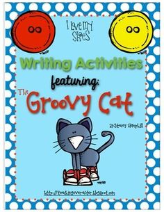 """**UPDATED 2/23/14 Colored images now included**I don't know about your students, but my kids are OBSESSED with The Groovy Cat.  I created this product by request of my students.  They said, """"Hey let's write a Halloween story about The Groovy Cat!""""  That is how this idea was born."""