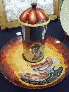 "Anamorfosis sobre porcelana  ""Las Llamadas"" homenaje al candombe Uruguayo Four Square, Painting, Art, Porcelain, Art Background, Painting Art, Kunst, Paintings, Gcse Art"