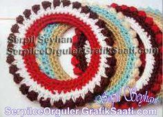 Yün örgüden resim çerçeveleri - Serpil Seyhan örgüleri Wool knitting picture frames - Serpil Seyhan weaves