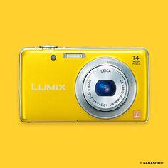 UN APPAREIL PHOTO COMPACT  Panasonic - La révolution Lumix pour capturer toutes les couleurs de la vie.  #jaunebycartenoire